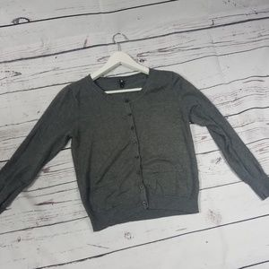 Flat Women Open Cardigan Grey Color Size S